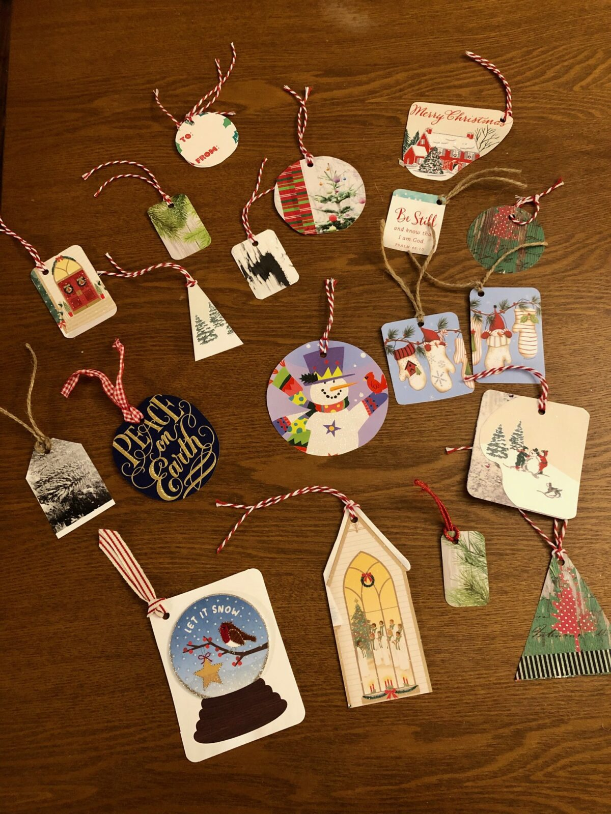 Recycle Christmas Cards into Gift Tags
